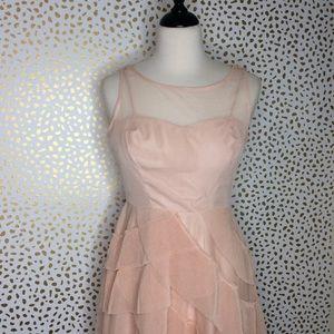 Lauren Conrad Runway blush tulle cocktail dress